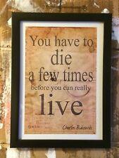 Charles Bukowski  Quote art literary print home decor literary quote poster