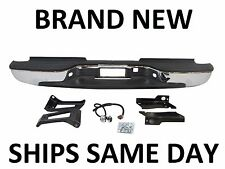 New Chrome Complete Rear Bumper 1999-2007 Chevy Silverado GMC Sierra 2500HD 3500
