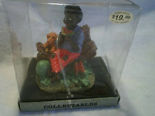 BLACK MAN EATING WATERMELON FIGURINE River Grove Pottery Works,african american
