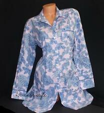 VICTORIA'S SECRET THE MAYFAIR SLEEP SHIRT PAJAMA BUTTON DOWN GOWN TOP SMALL S