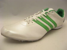 adidas Mens adizero MD Track & Field Shoes 13 Pearlized White Green G43313 Spike