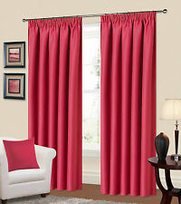 Plain Fully Lined Tape top blackout curtains-(Red,Pink,Plum,Green)