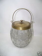 Cut Glass EAPG 1900's Glass Large Clear Biscuit Cookie Jar