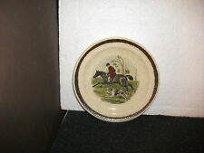 royal worcester palissy hunting scenes 17cm dia plate(a)