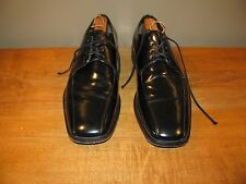 Kenneth Cole Mens Shoes Black Oxford Leather Upper Lining Sole Size 8.5