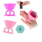 Pink Silicone Flexible Durable Multi Wearable Nail Polish Bottle Holder Finger
