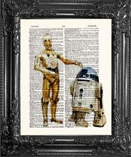 R2D2 3CPO Star Wars Dictionary Art Print