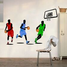 Three Basketball Players Sport Wall Sticker Decal Vinyl Art Home Decor Kids Room