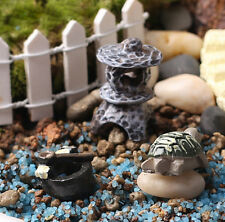 3pc Miniature Landscape Bonsai Ornament for Turtle Plant Pots Fairy Garden