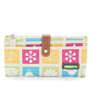 Lily Bloom Tic Tac Toc Travel Wallet  Holds Cell Phone