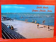 Postcard TX Corpus Christi South Beach Concession Stand with Coca Cola Sign