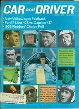 1966 Car & Driver Magazine: Jim Clark/Jackie Stewart/Enzo Ferrari/Jim Hall