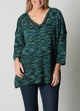 Ladies Plus Size Pop Corn Jumper Jade/ Blue Colour Fits Size 26 Free Post