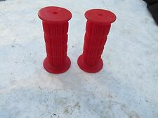 RED HANDLEBAR HUNT WILD JR MINI WAFFLE GRIPS BMX NOS RACE FREESTYLE VINTAGE