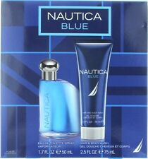 NEW NAUTICA BLUE EDT COLOGNE Spray 1.7 oz / Body Wash 2.5 oz MEN Gift Set