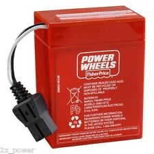 Power Wheels Red Battery Super 6 Volt (6V) 00801-0712 Fisher Price Mattel *NEW*