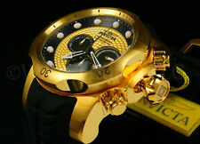 Invicta Men 52mm Venom Sea Dragon 18K GP ROPE Dial Chrono S.S Strap Watch NEW