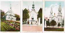 Ste (Saint) Anne de Beaupre, Quebec, Basilica, Old Church 3 Unused Postcards