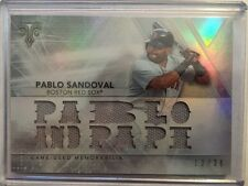 Pablo Sandoval 2015 Topps Triple Threads Relic 13/36 Red Sox
