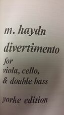 M Haydn: Divertimento For Viola, Cello And Double Bass: Music Score (N2)