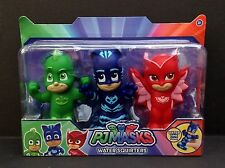 DISNEY Junior PJ MASKS Bath WATER SQUIRTERS Set 3 PIECE In Package NEW