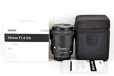 MINT SIGMA 35mm F/1.4 DG HSM Art 012 for Nikon with Hood from Japan