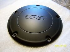 Harley derby cover-103-MATTE/DENIM BLACK POWDER COAT-TWIN CAM 2007-2015