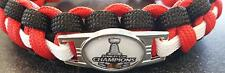 2015 Stanley Cup Champs Blackhawks Paracord Bracelet with Charm  (Cobra Weave)