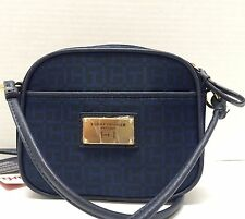 NWT TOMMY HILFIGER TH Monogram Crossbody Bag Purse Blue $65