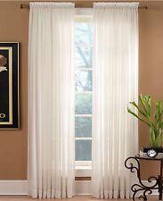 """Miller Curtains Sheer Preston Rod Pocket 51"""" x 108"""" Panel R561"""