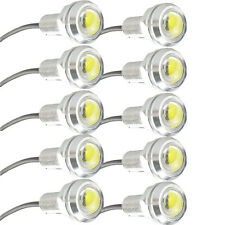 10pcs 10W LED Eagle Eye White Daytime Running DRL Light Tail Car Auto 12V