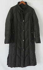 Platinum Utex Down Puffer Coat Full Length Quilted Zippered Size P/S Espresso