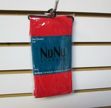 New Women's Nu & Nu Leg Wear Red Opaque Tights With Spandex Size Queen Tall