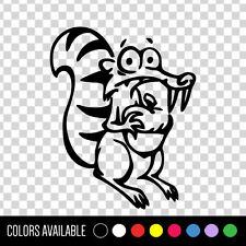 ICE AGE Squirrel SCRAT Funny Vinyl Car Decal Sticker