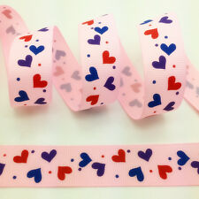New 5 Yards 1Inch (25mm) Printed Grosgrain Ribbon Hair Bow DIY Sewing #051