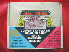 NOS Unopened Factory Box 40 Channel CB AM FM Radio Converter Olson CB-512 cb512