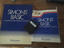 Simons Basic Book Cartridge *TESTED* and Battered Box - Commodore 64 128 CBM 64C