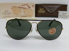 New Vintage B&L Ray Ban Large II Metal Leathers Brown Gold L1645 62mm USA