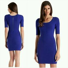 New Guess by Marciano electricity blue Pucker Knit Dress size S premium quality