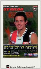 2007 AFL Teamcoach Trading Card Silver Captain CW13 Luke Ball