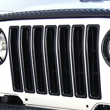 11306.03 Rugged Ridge Black Grill Inserts Jeep Wrangler TJ 1997-2006