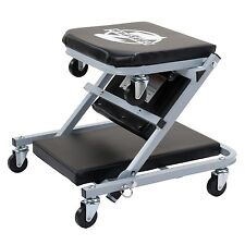 Z Creeper Seat Rolling Mechanics Chair Garage Stool Shop Tool Tray Padded Rider
