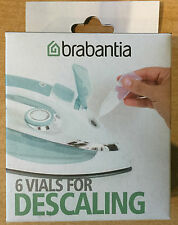 BRABANTIA DESCALING SET 6 VIALS FOR STEAMS IRONS/GENERATORS KETTLES COFFEEMAKER