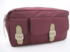 Victoria's Secret Zipper Multifunction Storage Bag Wash Bag Cosmetic Bag WineRed