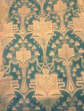 """Antique ART NOUVEAU Woven Fabric Textile Portiere Panel Drape Tapestry 48""""X104"""""""