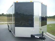 8.5x18 Enclosed Trailer Cargo V-Nose Car Hauler 8 Motorcycle Utility 16 20 2017