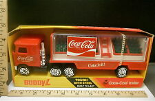 "1983 Buddy L 9"" Coca-Cola Delivery Truck w/ Coke Trays and Hand Truck  MPN 591M"