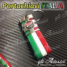 Portachiavi Tricolore Italia Moto DUCATI NEW logo Monster Panigale Multistrada