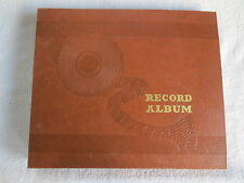 "Vintage ""Record Album"" Brown 10 Page 10"" 78 rpm Record Album Storage Book Binder"