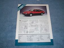 1987 Merkur XR4Ti Vintage Info Article and Specs